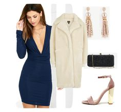 """Cocktail Hour"" by marinavl ❤ liked on Polyvore featuring LULUS, White House Black Market, Steve Madden and Ann Taylor"