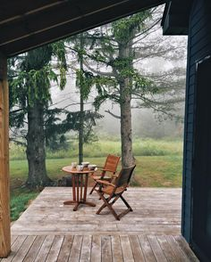 Coffee on a misty morning