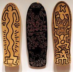 http://shop.spreadshirt.com/skateworkshop Keith Haring Skateboard decks