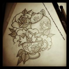 #tattoo #teapot #teaparty storm in a teacup