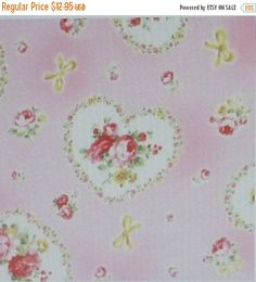 CLEARANCE SALE - Princess Rose,Cotton Fabric, Quilt, Floral, Rose Bouquet Heartse,Fast Shipping,F533