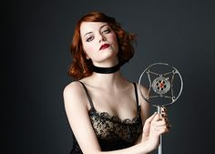 emma stone's cabaret look via nylon!