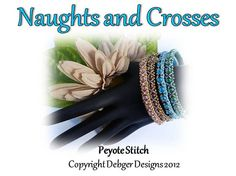 Naughts and Crosses Bangle Tutorial Pattern PATTERN by debger, $7.50