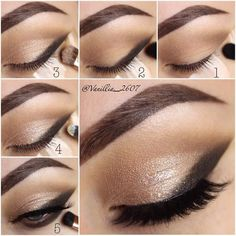 Beautiful Sultry, Stand-Offish & Sleek Eye Makeup Step by Step Tutorial
