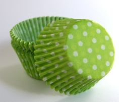Lime green cupcake liners - sweetestelle.etsy.com