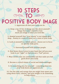 10 steps to a healthy body image