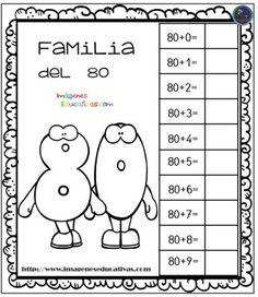 Aprendemos la familia de los números - Imagenes Educativas Spanish Lessons, Math Lessons, Grade 1, Back To School, Kindergarten, Homeschool, Teaching, Peppa Pig, Free Stuff