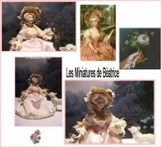 Marie-Antoinette au Hameau de Versailles by les Miniatures de Béatrice/Sold
