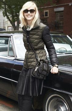 Bernardo Packable Goose Down Jacket & Classiques Entier® Leather Skirt  available at #Nordstrom