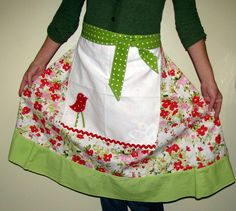 An Upcycled Skirt To Apron Tutorial