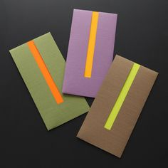 マヤゴノミ/ココロづけ袋 IRO-AWASE(3色入) 680yen 大人の嗜みとして重宝する、上質なご祝儀・心付け袋