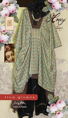PDF downloadable sewing patterns HONEY SHIRT BY TINA GIVENS featuring fabric by AMY BUTLER