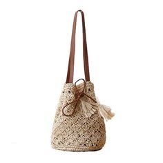 FZMBAI Straw Knitted Small Lady Handbag
