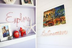 How to Create Wire Word Wall Art via Brit + Co.
