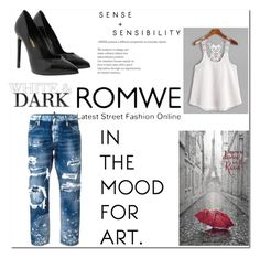 """lace"" by zvoncica-fashion ❤ liked on Polyvore featuring Yves Saint Laurent and Dsquared2"