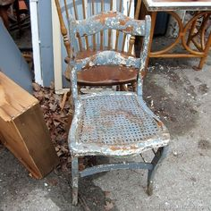 The Junk Shop And Outdoor Chairs With Chipped Paint