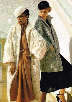 d2fd8efe728 Vintage Women s Knitting Pattern - Ladies coat or Jacket - Sweater - 70 s  80 s - instant download PDF