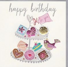 Birthday Greetings for Her   Bird Birthday Cards