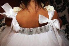 bling tulle flower girl dresses for weddings | Flower Girl Tutu Dress. Birthday. Wedding... - Headwears - Wedding ...
