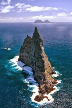 Ball's Pyramid, Australia: the tallest volcanic stack in the world.