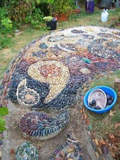 hard landscaping with rocks or pebbles, concrete masonry, crafts, diy, gardening, landscape