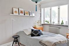 my scandinavian home: Lime green and blue in a Swedish apartment