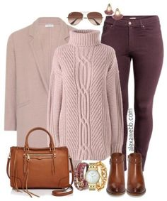 Plus Size Plum Jeans Outfit - Warm - Plus Size Fall Outfit Idea - Plus Size Fashion for Women - alexawebb.com #alexawebb