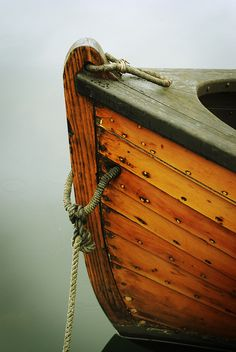 Brown Boat (Waterline, taken at the Center for Wooden Boats, January 7, 2012, By Lady Miss Elle)