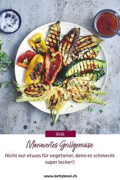 Grillgemüse ist schon super, aber mariniertes Grillgemüse ist wirklich noch viel besser! Versuch das tolle Grillrezept aus! Versuch, Super, Tricks, Vegan Treats, Vegetarian Recipes, Red Chili, Barbecue Recipes, Light Recipes, Vegetarian