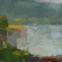 somes sound, morning ~ oil on linen ~ by  christine lafuente