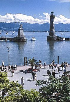 Lindau, Bodensee - Lake Constance, Germany (backround: the Swiss Alps)