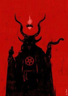baphomet Not sure why I drew this, I enjoy drawing mythological and religious figures and… Dark Fantasy Art, Dark Art, Arte Horror, Horror Art, Art Sinistre, Satanic Art, Evil Art, Occult Art, Baphomet