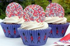 Jubilee chocolate cupcakes by Victoria Threader.