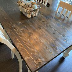 Farmhouse Table Rustic Farm Table Farmhouse Dining Table | Etsy Farm Table With Bench, Barn Table, Plank Table, Farmhouse Dining Room Table, Wooden Dining Tables, Rustic Table, Farmhouse Bench, Table Bench, Picnic Table