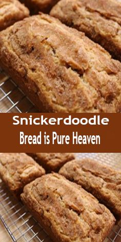 Snickerdoodle Sweet Bread – the perfect recipe for all cinnamon lovers! So, are you a connoisseur who's always looking forward to trying out innovative cinnamon recipes? If yes, then this particular recipe will be so appropriate Cinnamon Recipes, Bread Recipes, Baking Recipes, Cinnamon Bread, Moist Pumpkin Bread, Köstliche Desserts, Dessert Recipes, Homemade Desserts, Homemade Breads