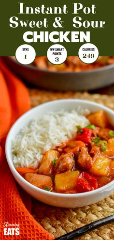 This just might be the best low syn Sweet and Sour Chicken you ever make - seriously! Slimming World and Weight Watchers friendly Slow Cooker Chicken Healthy, Slow Cooker Pork, Pressure Cooker Recipes, Sweat And Sour Chicken, Sweet Sour Chicken, Easy Slimming World Recipes, Slimming Eats, Best Instant Pot Recipe, Instant Pot Dinner Recipes