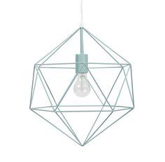 Lámpara de techo filiforme de metal verde D. 35cm MINT