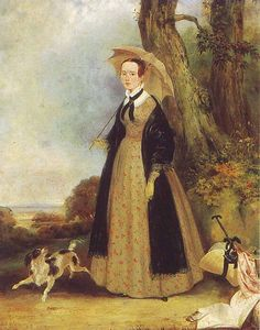 Golike Basil (1802-1848) unknown lady in the park