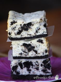 Brandy's Baking: Cookies and Cream Cheesecake Bars