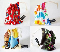 Mini drawstring bag 1no. various  perfect for by accidentalvix, £3.50