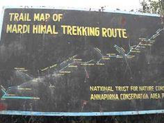 Mardi Himal Trekking Route