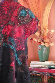 Studio 907: Nuno Felted Seamless Kimonon Vest.