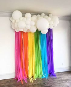 """PLAN YOUR PARTY WITH US on Instagram: """"Beautiful rainbow garland 🌈 😍 Share your thoughts below in the comment box section 💁🏻♀️ #b... - #beautiful #garland #instagram #party #rainbow #share #thoughts - #balloonndecoration"""