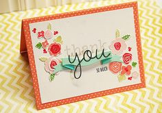 Thank You Blooms card set by Dani at Studio Calico