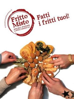 Fritto Misto in Ascoli Piceno, fried goodies from all over Italy and the rest of the world. And do not forget Ascoli typical Olive all'Ascolana (delicious stuffed fried olives)