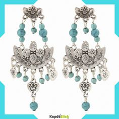 buy online earrings for women | online shopping  Look glamorous and charming by wearing these earrings for women from Kapdaclick. Made from alloy, these earrings have a really catchy design that gets along with kurtis and contemporarily designed tops.  http://www.kapdaclick.com/category/earrings