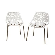 Shop Birch Sapling White Plastic Accent or Dining Chairs - Set of 2, read customer reviews and more at HSN.com.