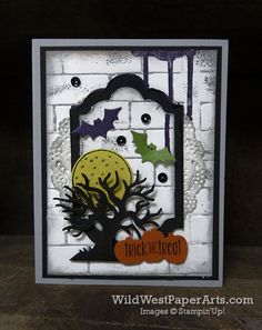 Spooky Fun at WildWestPaperArts.com | Stampin' Up! Spooky Fun Bundle & Halloween Scene Edgelits
