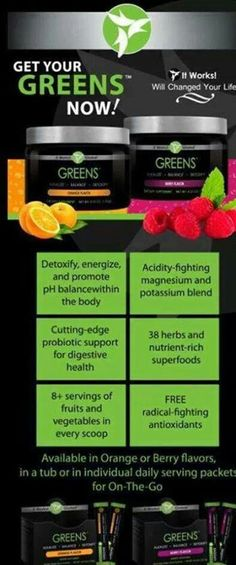 Love my greens!  if you don't want to get sick this winter  Order your greens  questions? call me @ 916-240-1958 https://brendagwraps.myitworks.com