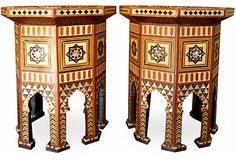 Vintage pair of Moroccan tables.